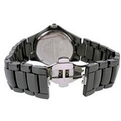 Le Chateau Men's 'Bello' Silvertone-accented Ceramic Watch