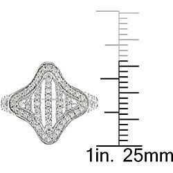 10k White Gold 1/3ct TDW Diamond  Ring (H-I, I2-I3) - Thumbnail 2