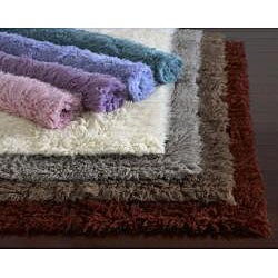 Shop Alexa Standard Teal Flokati New Zealand Wool Shag Rug
