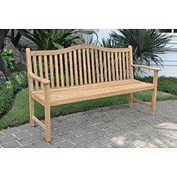 Cottage Teak 5-foot Bench - Thumbnail 2