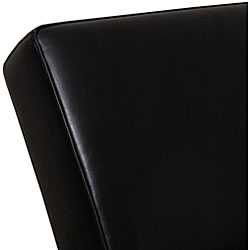 Cleo Black Leather Chaise