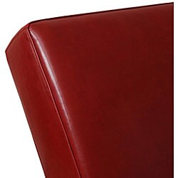 Cleo Burnt Red Leather Chaise