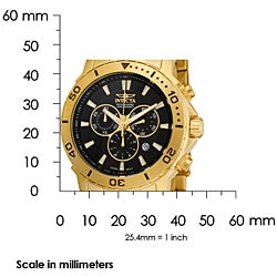 Invicta Men's Pro Diver 18k Goldplated Chronograph Watch - Thumbnail 2