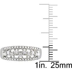 10k White Gold 1/2ct TDW Diamond Ring - Thumbnail 2
