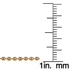 Caribe 14k Gold over Silver 18-inch Ball Chain (2 mm) - Thumbnail 2