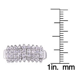 Sterling Essentials Sterling Silver Cubic Zirconia Pyramid Ring - Thumbnail 2