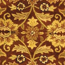 Safavieh Handmade Classic Jaipur Rust/ Black Wool Rug (4'6 x 6'6 Oval) - Thumbnail 2