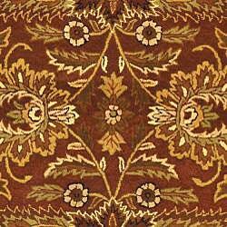 Safavieh Handmade Classic Jaipur Rust/ Black Wool Rug (7'6 x 9'6) - Thumbnail 2