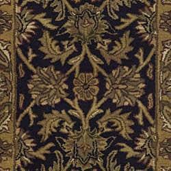 Safavieh Handmade Traditions Black/ Light Brown Wool Rug (2' x 3') - Thumbnail 2