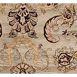 Safavieh Handmade Bukan Light Green Wool Rug (6' x 9') - Thumbnail 2