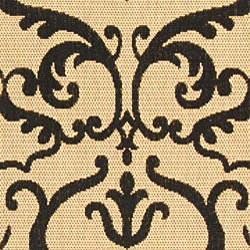 Safavieh Bimini Damask Sand/ Black Indoor/ Outdoor Rug (2'7 x 5') - Thumbnail 2