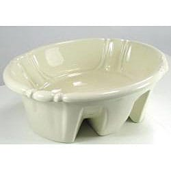 DeNovo Self-Rimming Decorative Porcelain Bone Bathroom Sink