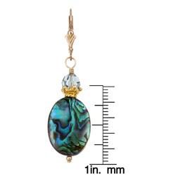Charming Life 14k Goldfill Paua Shell Earrings