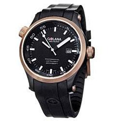 Golana Swiss Men's 'Aqua Pro 100' Two-tone Rubber Strap Watch - Thumbnail 2