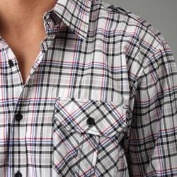 No Retreat Men's Plaid Woven Shirt - Thumbnail 2