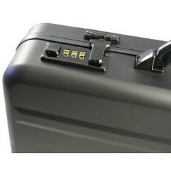 World Traveler Aluminum Dark Iron Laptop Attache Case - Thumbnail 2