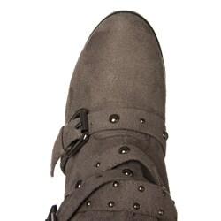 Bucco Women's Buckle Detail Mid-calf Boots - Thumbnail 2