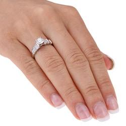 14k White Gold 1ct TDW Diamond Engagement Ring (G-H, I1-I2) - Thumbnail 2
