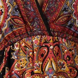 Thumbnail 3, Angie Women's V-neck Dolman Sleeve Printed Dress. Changes active main hero.