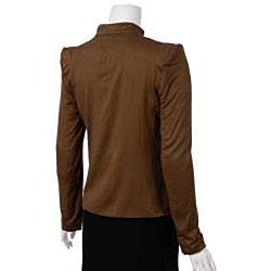 Naomi Women's Stretch Knit Military Jacket - Thumbnail 2