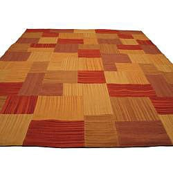 Hand-woven Tribeca Patch Kilim Wool Rug (8' x 10')