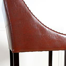 Dublin Cognac Bonded Leather Barstool Free Shipping