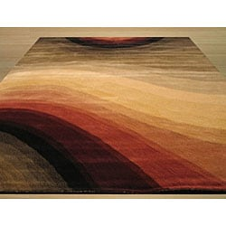 Hand-tufted Wool Contemporary Abstract Desertland Rug (5' x 8') - Thumbnail 2