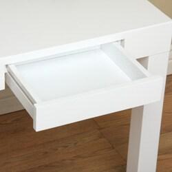 Lachlan Glossy White End Table - Thumbnail 2