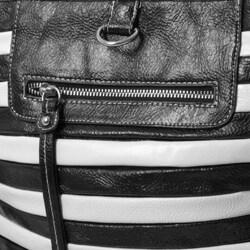 Je Veux Striped 'Tubular' Handbag - Thumbnail 2