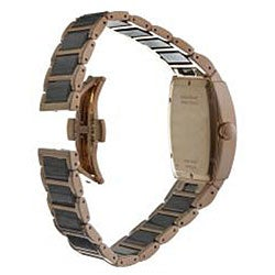 Wittnauer Men's Black Ceramic and Rose Gold Diamond-accent Watch