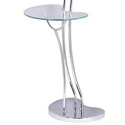 Modern Chrome Torchiere Floor Lamp/ Table