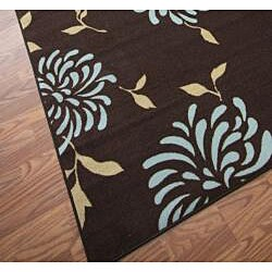 nuLOOM Infiniti Stardust Floral Chocolate Rug (4'5 x 6'9) - Thumbnail 2