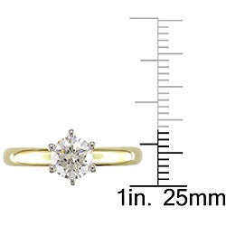 Miadora 14k Gold 1ct TDW Diamond Solitaire Engagement Ring (G-H, VS2) - Thumbnail 2