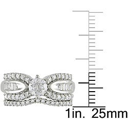 14k White Gold 1ct TDW Diamond Bridal Ring Set (G-H, I1-I2) - Thumbnail 2