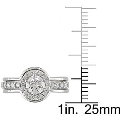 14k White Gold 1ct TDW Diamond Ring Set (G-H, I1-I2) - Thumbnail 2
