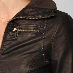 Miss Sixty Women's Faux Leather Bomber Jacket - Thumbnail 2