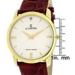 Le Chateau Men's Classica Diamond-accent Watch - Thumbnail 2
