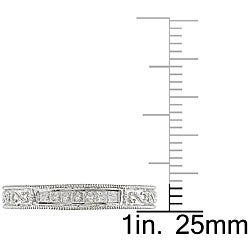 Miadora 10k White Gold 1/5ct TDW Diamond Anniversary Ring (H-I, I2-I3) - Thumbnail 2