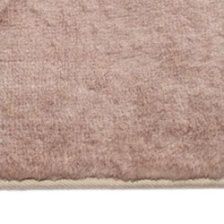 Taupe Faux Fur Rug (7' x 10')
