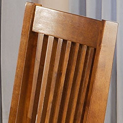 Beauville 18-inch Mission Oak Dining Chairs (Set of 2) - Thumbnail 2