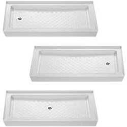 DreamLine 32x60 inch Frosted Glass Bathtub Replacement Shower Kit - Thumbnail 2