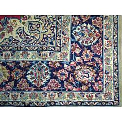 Persian Hand-knotted Isfahan Red Wool Rug (10'2 x 13'7) - Thumbnail 2