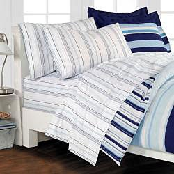Newport Blue Queen-size 7-piece Bed in Bag with Sheet Set - Thumbnail 2