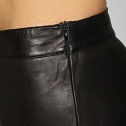 Miss Sixty Women's Black Leather Pants - Thumbnail 2