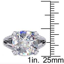 Danhov 14k Gold Cubic Zirconia and 1/2ct TDW Diamond Engagement Ring (G, VS2)
