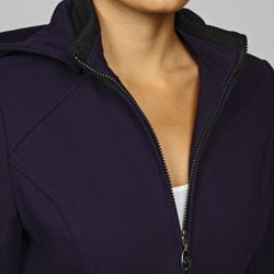 Esprit Women's Wool Blend Knit Collar Hooded Jacket