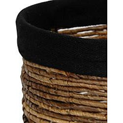Banana Leaf 13-inch Woven Basket (China) - Thumbnail 2