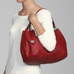 Furla Cherry Red Leather Hobo Bag