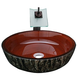 Geyser Glass Vessel Asian Bathroom Sink and Faucet - Free Shipping ...