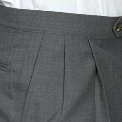 Sansabelt Men's Four Seasons Grey Pleated Dress Pants